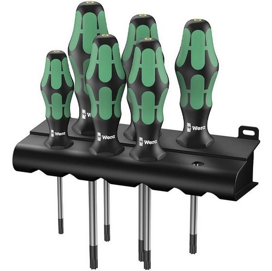 Image of Wera 3676 Bo Kraftform Plus Security Torx Screwdriver Set 6pc