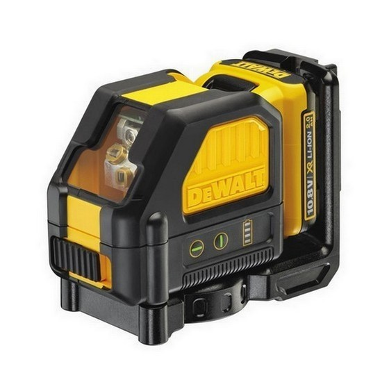 Image of DEWALT DCE088DIGGB 108V GREEN CROSS LINE LASER WITH 1X 20AH LIION BATTERY