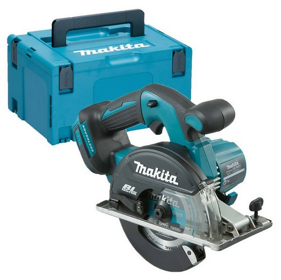 Image of MAKITA DCS551ZJ 18V BRUSHLESS METAL SAW BODY ONLY SUPPLIED IN MAKPAC CASE