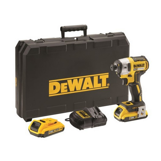 Image of DEWALT DCF887D2 18V BRUSHLESS IMPACT DRIVER WITH 2X 20AH LIION BATTERIES