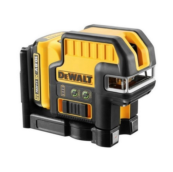 Image of Dewalt Dce0825d1g 108v 5 Spot Cross Line Green Laser With 20ah Liion Battery