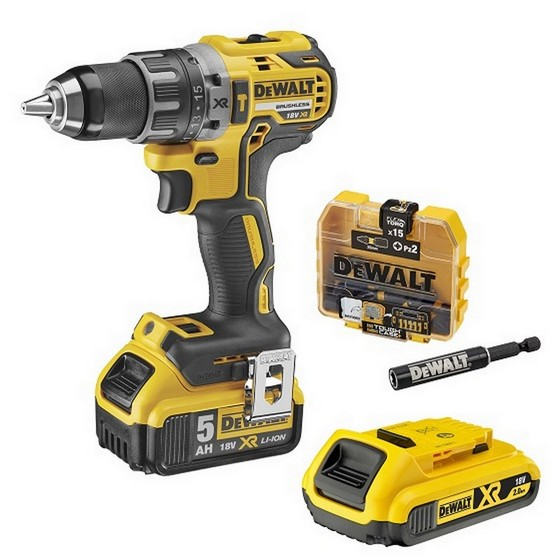 Image of DEWALT DCD796P1 18V COMPACT BRUSHLESS DRILL DRIVER WITH 1X 50AH LIION BATTERY