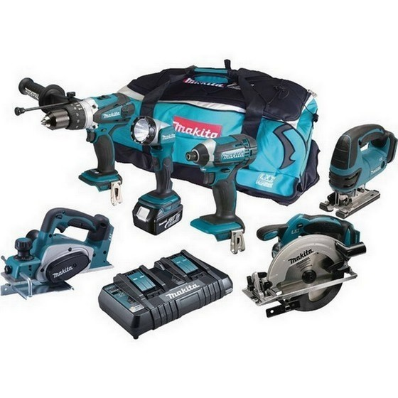 Image of MAKITA DLX6067PT 18V 6 PIECE KIT WITH 3 X 50AH LIION BATTERIES