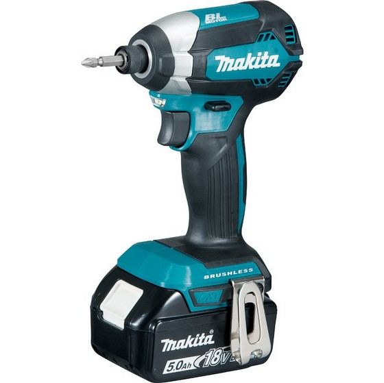 Image of Makita Dtd153rtj 18v Brushless Impact Driver With 2 X 50ah Liion Batteries Supplied In Makpac Case