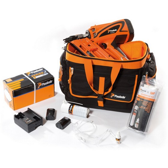 Image of PASLODE IM360CI 1ST FIX FRAMING NAILER KIT IN BAG 2X LIION BATTERIES