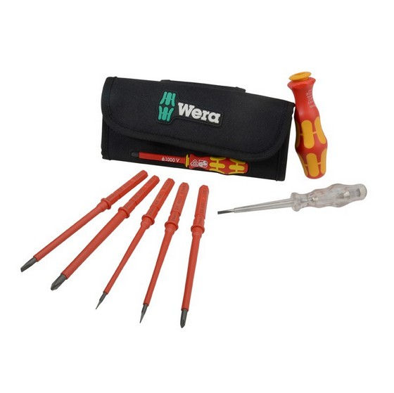 Home & Garden|DIY|Screwdrivers WERA 7 PIECE INTERCHANGEABLE VDE SCREWDRIVER SET