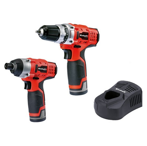 Anglia Tool Centre EINHELL 12V IMPACT DRIVER & DRILL DRIVER TWIN PACK