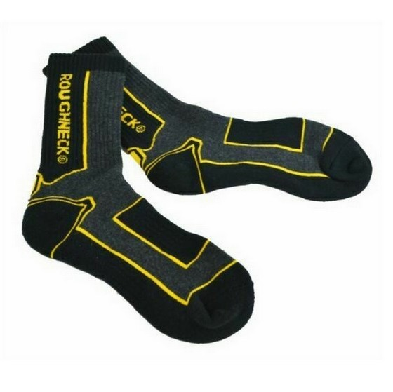 Image of ROUGHNECK XMS18WORKSOX HEAVY DUTY COMPRESSION WORK BOOT SOCKS TWIN PACK
