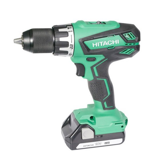 Image of HITACHI 18V COMBI DRILL WITH 2X15AH LIION BATTERIES