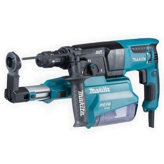 Image of MAKITA HR2651 AVT SDS HAMMER DRILL WITH DUST EXTRACTION 240V
