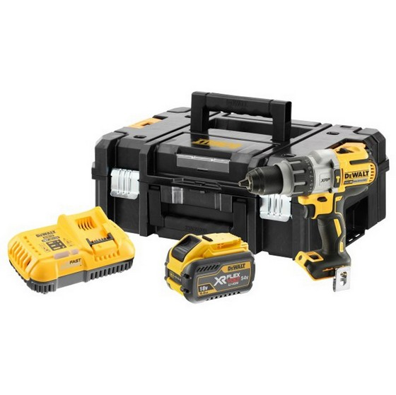 Image of DEWALT DCD996X1 18V BRUSHLESS COMBI HAMMER DRILL WITH 1 X 54V 90AH LIION BATTERY