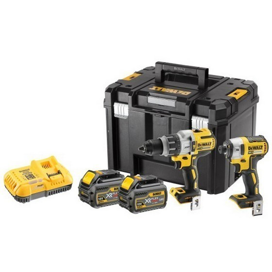 Image of Dewalt Dck276t2t 18v Brushless Heavy Duty Twin Pack With 2 X 54v 60ah Liion Batteries