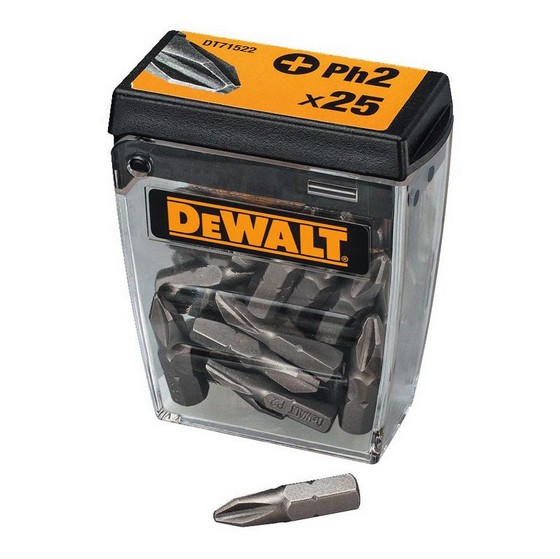 Image of DEWALT DT71522QZ PH2 25MM X 25 PIECE TIC TAC SCREWDRIVER BIT SET
