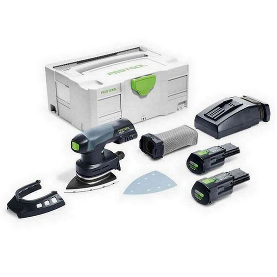 Image of FESTOOL 201521 DTSC40031PLUSGB DETAIL SANDER WITH 2X31AH ERGO LIION BATTERIES