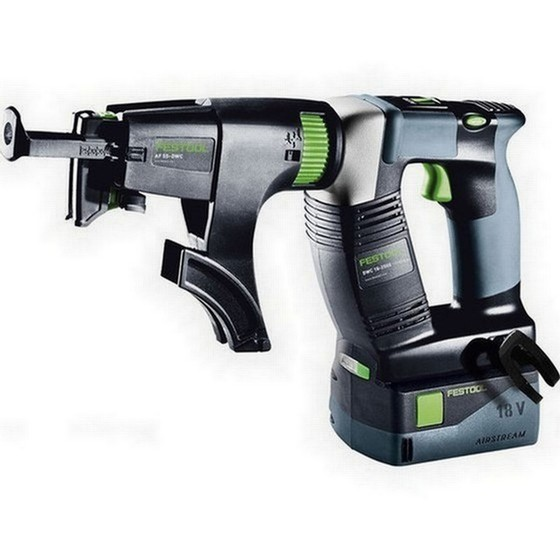 Image of FESTOOL 574744 DWC182500 18V CONSTRUCTION SCREWDRIVER WITH 2X52AH LIION BATTERIES