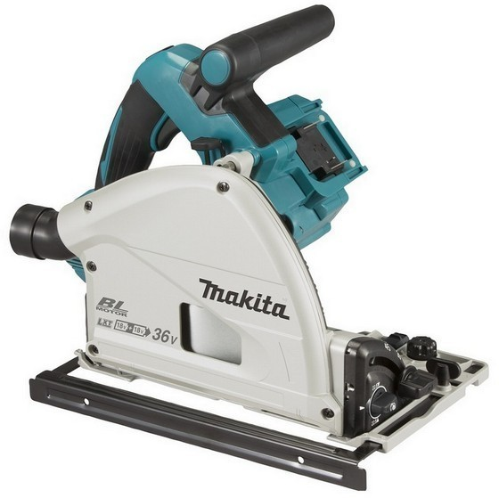 Image of MAKITA DSP600ZJ 18Vx2 BRUSHLESS LXT PLUNGE SAW 165MM BODY ONLY SUPPLIED IN MAKPAC CASE