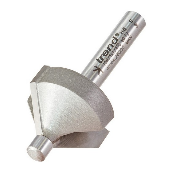 Image of TREND 10H1X14TC PIN GUIDED CHAMFER BEVEL CUTTER 45 DEGREES