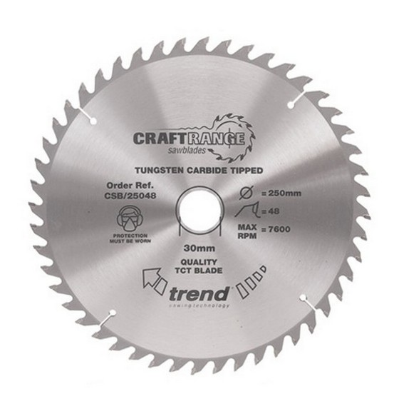 Image of TREND CSB31548 CRAFT SAW BLADE 315MM X 48 TEETH X 30MM