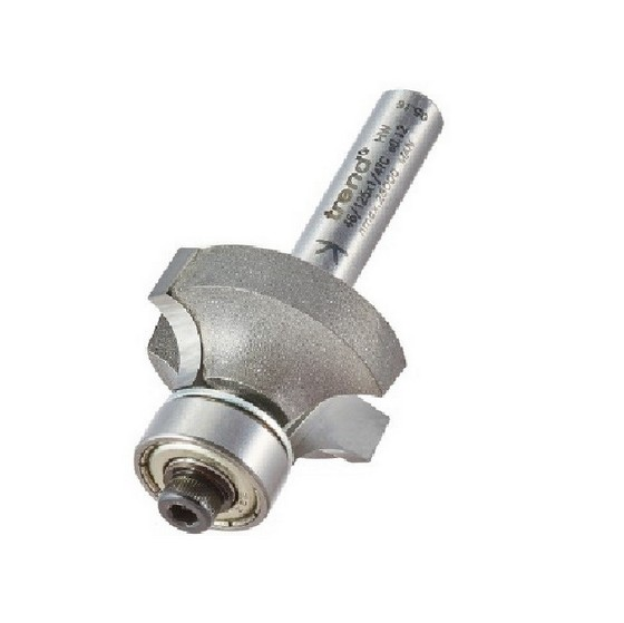 Image of TREND 46125X14TC BEARING GUIDED OVOLO CUTTER 6MM RADIUS