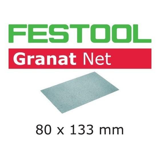 Image of FESTOOL 203290 GRANAT SANDING SHEETS 80X133MM 220 GRIT PACK OF 50