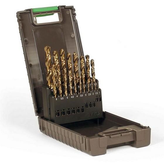 Image of Reisser 138796 19 Piece Jobber Hss Cobalt Drill Bit Set 110mm