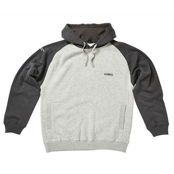 Image of DEWALT CYCLONE HOODIE GREY XXLARGE