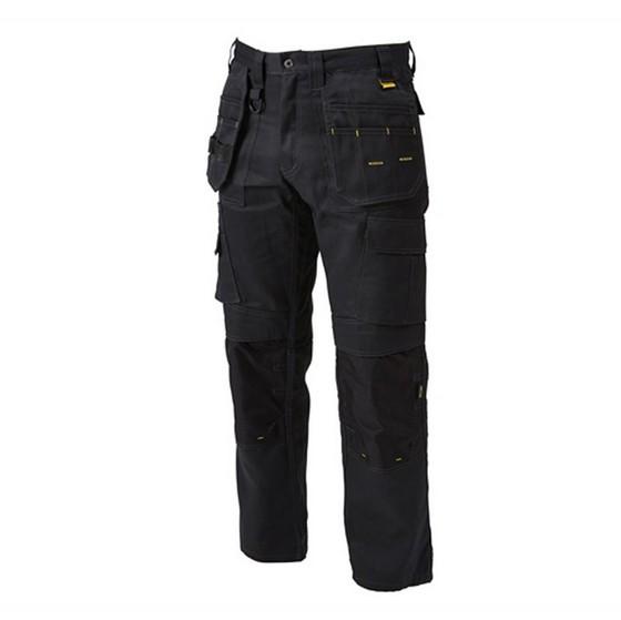 Image of Dewalt Pro Tradesman Trousers 32 Inch Waist 29 Inch Leg Black