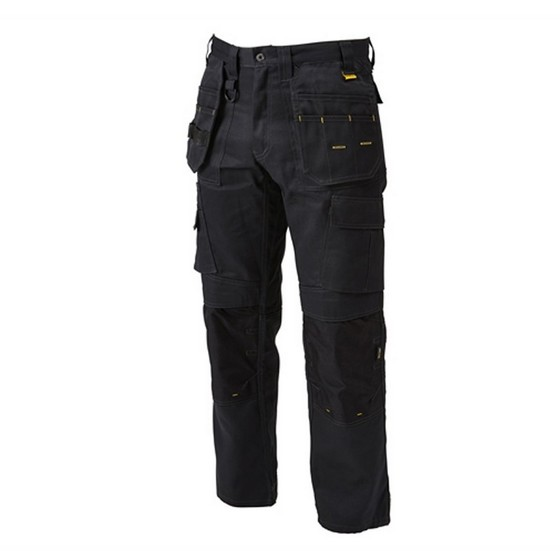 Image of Dewalt Pro Tradesman Trousers 34 Inch Waist 29 Inch Leg Black
