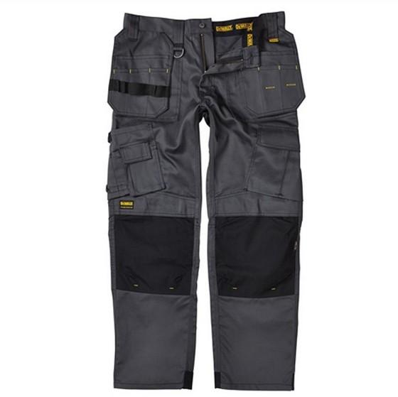 Image of Dewalt Pro Tradesman Trousers 32 Inch Waist 33 Inch Leg Greyblack