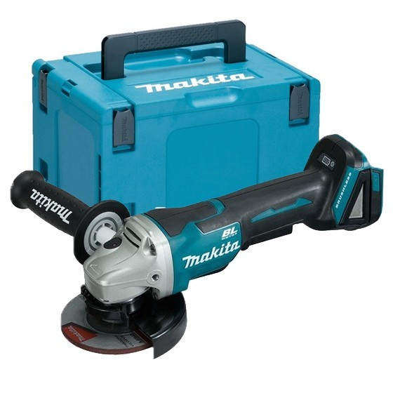 Image of MAKITA DGA458ZJ 18V 115MM BRUSHLESS ANGLE GRINDER BODY ONLY SUPPLIED IN MAKPAC CASE