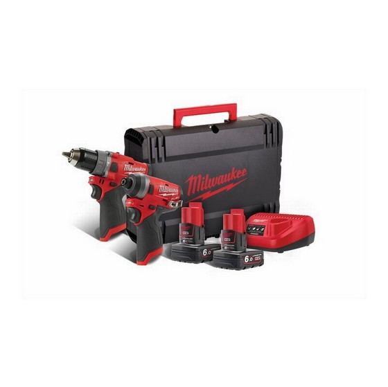 Image of MILWAUKEE M12FPP2A602X M12 FUEL TWIN PACK