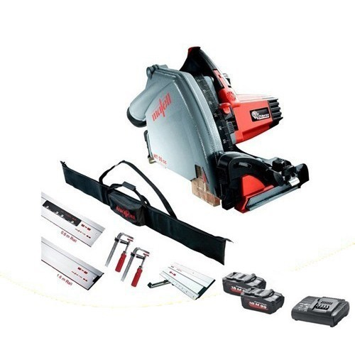 Image of Mafell 918821 Mt55 18v Plunge Saw Kit With 204749 Rail Kit And 2x 55ah Lihd Batteries