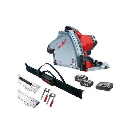 Image of Mafell 918821 Mt55 18v Plunge Saw Kit With 204805 Rail Kit And 2x 55ah Lihd Batteries