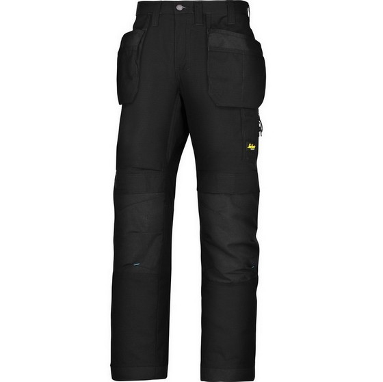 Image of SNICKERS 6207 LITEWORK TROUSERS BLACK 30L 33W