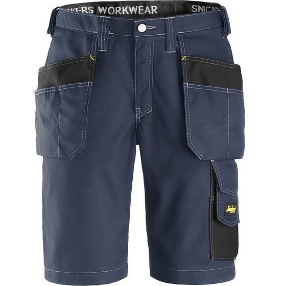Image of SNICKERS 3023 RIPSTOP SHORTS NAVYBLACK 32L 35W