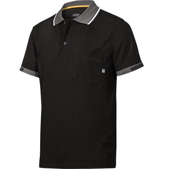 Image of SNICKERS 2724 TECH POLO SHIRT BLACK XL