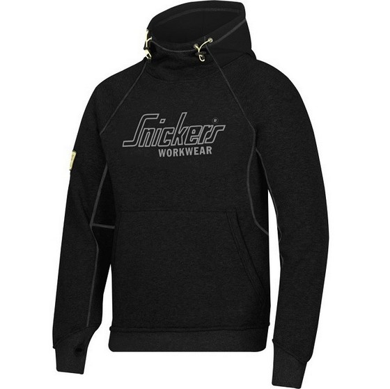 Image of SNICKERS 2815 LOGO HOODIE BLACK XL