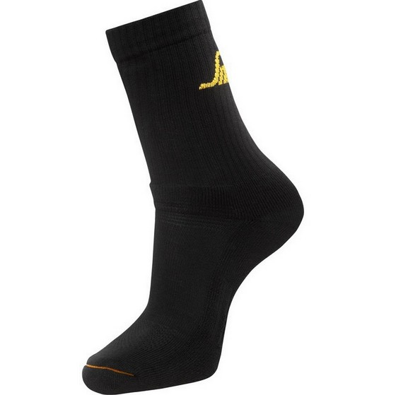 Image of SNICKERS 9211 PACK OF 3 ALLROUND SOCKS BLACK SM