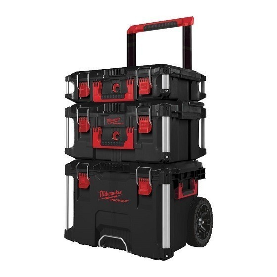 Image of MILWAUKEE 4932464244 PACKOUT 3 PIECE STORAGE SET FREE PACKOUT ORGANISER
