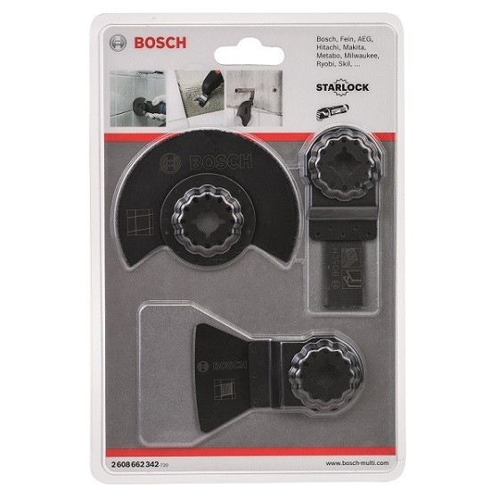 Image of BOSCH 2608662342 3 PIECE OMT BASIC TILE SET