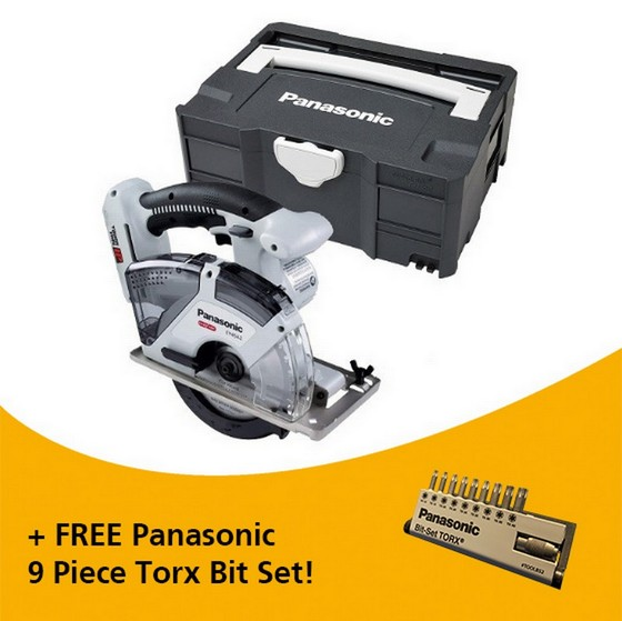 Image of Panasonic Ey45a2xwt32 18v Dual Voltage Circular Saw Body Only In Systainer