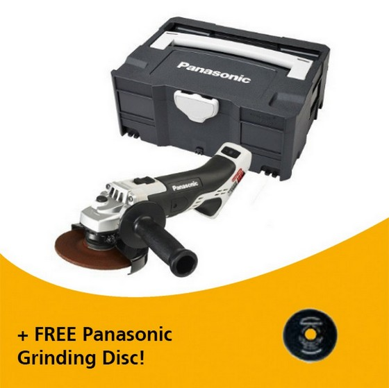 Image of Panasonic Ey46a2xt32 18v Dual Voltage 125mm Angle Grinder Body Only In Systainer