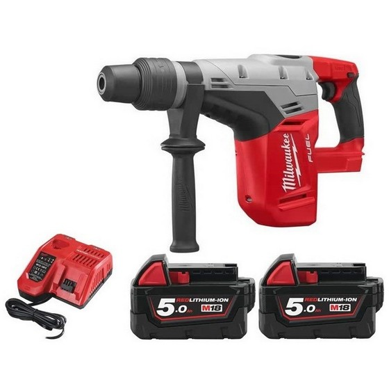Image of MILWAUKEE M18CHM502BAG 18V BRUSHLESS 5KG SDS MAX COMBI HAMMER WITH 2X 50AH LIION BATTERIES SUPPLIED IN CARRY BAG