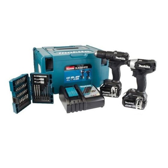 Image of MAKITA DLX2221BT2 18V COMBI DRILL & IMPACT DRIVER TWIN PACK WITH 2X 50AH LIION BATTERIES SPECIAL EDITION