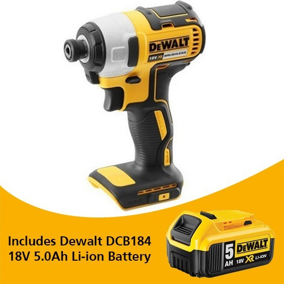 Image of DEWALT DCF787N 18V BRUSHLESS IMPACT DRIVER BODY ONLY WITH 1X 50AH LIION BATTERY