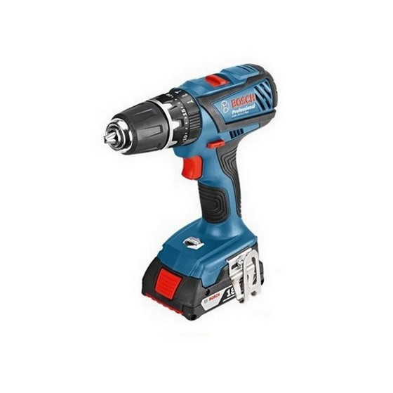 Image of BOSCH GSB182LIPLUS 18V COMBI HAMMER DRILL WITH 2X 30AH LIION BATTERIES PLUS ACCESSORIES