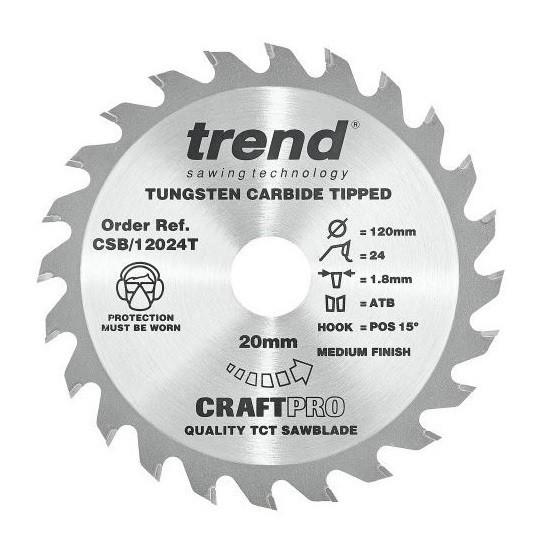 Image of Trend Csb12040t Thin Kerf Tct Circular Saw Blade 40tx20x120mm