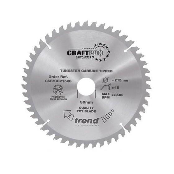 Image of Trend Csbcc25024t Mitre Saw Crosscutting Tct Circular Saw Blade 24tx30x250mm