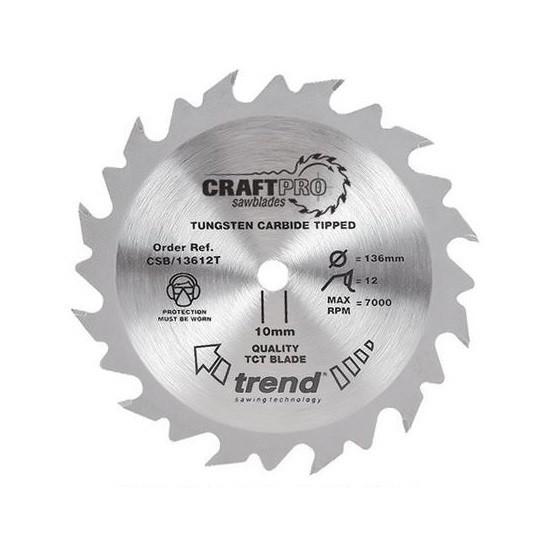 Image of Trend Csb18424ta Craft Saw Blade 184mmx24tx16 Thin