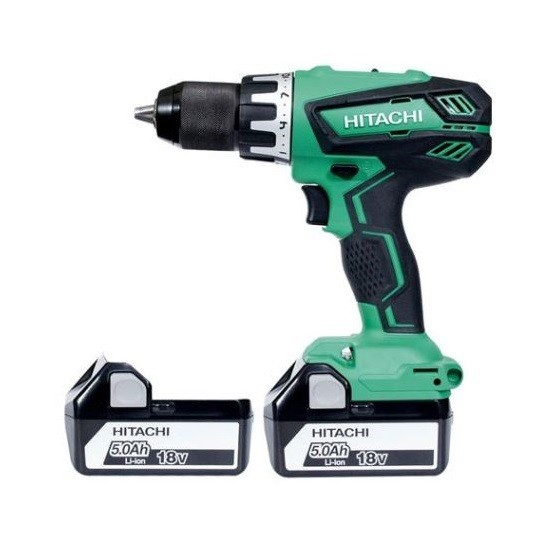 Image of HITACHI DV18DGALJJ 18V COMBI HAMMER DRILL WITH 2X 50AH LIION BATTERIES